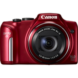 Canon PowerShot SX170 IS 16 Megapixel Compact Camera - Red