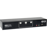 Tripp Lite 2-Port Dual Monitor DVI KVM Switch with Audio and USB 2.0 Hub, Cables included B004-2DUA2-K