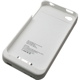 4XEM External Backup Battery Case/Cover For iPhone 4/4S (White)
