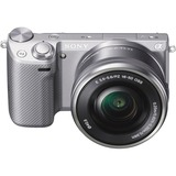 Sony Alpha NEX-5T 16.1 Megapixel Mirrorless Camera (Body with Lens Kit) - 16 mm - 50 mm - Silver NEX5TLS