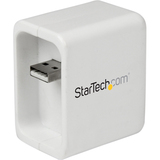 StarTech.com Portable Wireless N WiFi Travel Router for iPad - USB Powered w/ Charge Port R150WN1X1T