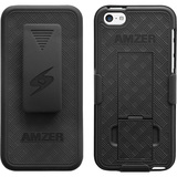 Amzer Shellster with Kickstand - Black For iPhone 5C