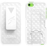 Amzer Shellster with Kickstand - White For iPhone 5C
