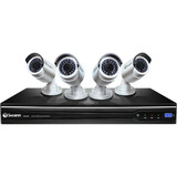 Swann NVR8-7200 8 Channel NVR with Smartphone Viewing & 4 x NHD-820 Cameras SWNVK-872004-US