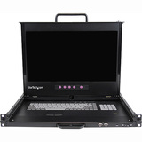 "StarTech.com 1U 17"" HD 1080p Dual Rail Rackmount LCD Console w/ Fingerprint Reader and Front USB Hub RACKCOND17HD"