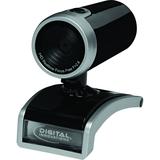 Digital Innovations ChatCam 4310700 Webcam - Glossy Black, Silver - USB 2.0