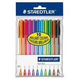 Staedtler 10 Colour Set Ballpoint Stick Pens