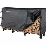 Landmann 8' Black Super Sturdy Log Rack wth Middleweight Cover
