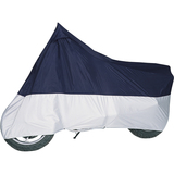 Classic Accessories Motorcycle Cover, Blue and Silver
