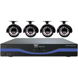 Night Owl 4 Channel 960H DVR with HDMI, 500 GB HDD and 4 x 480 TVL Cameras (30ft NV)