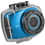 "Ematic SportsCam EVH528 Digital Camcorder - 2.4"" - Touchscreen LCD - CMOS - Full HD - Blue"