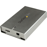 "StarTech.com 2.5"" Aluminum USB 3.0 SATA III Hard Drive Enclosure w/ UASP - SSD/HDD Height up to 12.5mm S2510SM12U33"