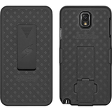 Amzer Shellster Carrying Case (Holster) for Smartphone - Black