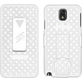 Amzer Shellster Carrying Case (Holster) for Smartphone - White