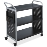 Safco Scoot 3 Shelf Utility Cart 5339BL