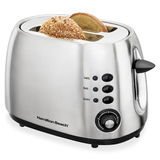 Hamilton Beach 2-Slice Brushed Finish Toaster 22504C