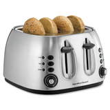 Hamilton Beach 4-Slice Brushed Finish Toaster 24504C