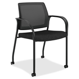 HON Ignition Mesh Back Stacking Chair with Casters IS107SS11