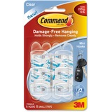 Command Mini Clear Hooks with Clear Strips