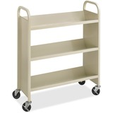Safco Steel 3-Shelf Single-Sided Book Carts 5358SA