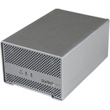 "StarTech.com Thunderbolt Hard Drive Enclosure with Thunderbolt Cable - Dual Bay 2.5"" HDD Enclosure with fan S252SMTB3"