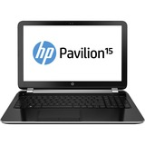 "HP Pavilion 15-n200 15-n220ca 15.6"" LED (BrightView) Notebook - AMD - A-Series A6-5200 2GHz - Sparkling Black - Anodized Silver F9H16UA#ABL"