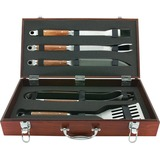Mr. Bar.B.Q 5 Piece Tool Set with Genuine Hardwood Case