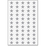 ALS6011AL - Ace Label Systems Silver Stars, 55-Up
