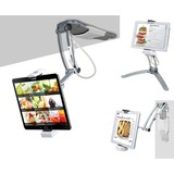 CTA Digital 2-in-1 Kitchen Mount Stand for iPad & Tablets