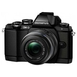 Olympus OM-D E-M10 16.1 Megapixel Mirrorless Camera (Body with Lens Kit) - 14 mm - 42 mm - Black V207021BU000