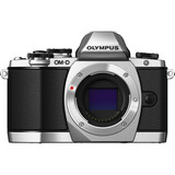 Olympus OM-D E-M10 16.1 Megapixel Mirrorless Camera (Body Only) - Silver V207020SU000