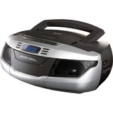 Supersonic Portable MP3/CD Cassette Recorder with AM/FM Radio, USB/SD & Aux Inputs SC-184UBSILVER