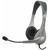 Cyber Acoustics Speech Recognition Stereo Headset and Boom Mic AC-201