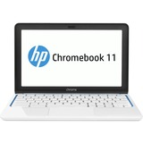"HP Chromebook 11-1100 11.6"" LED (In-plane Switching (IPS) Technology) Notebook - Samsung Exynos 5 1.70 GHz - Piano White, Blue Accent G1V17AA#ABA"