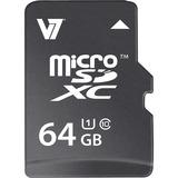 V7 VAMSDX64GUHS1R-2N 64 GB microSD Extended Capacity (microSDXC) VAMSDX64GUHS1R-2N