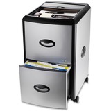Storex 2-Drawer Metal/Plastic Filing Cabinet w/ Lid