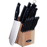 Oster Granger 14-Piece Stainless Steel Cutlery Set, Black