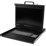 "StarTech.com 1U 17"" HD 1080p Rackmount LCD Console with Front USB Hub RACKCONS17HD"