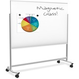Balt Visionary Move Mobile Magnetic Glass Whiteboard 4x6