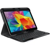 "Logitech Ultrathin Keyboard/Cover Case (Folio) for 10.1"" Tablet - Black"
