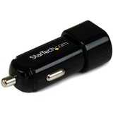 StarTech.com Dual Port USB Car Charger - High Power (17 Watt / 3.4 Amp) USB2PCARBK