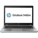 "HP EliteBook Folio 9480m 14"" LED Notebook - Intel Core i5 i5-4210U 1.70 GHz - Platinum J5P81UT#ABA"