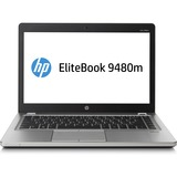 "HP EliteBook Folio 9480m 14"" LED Notebook - Intel Core i7 i7-4600U 2.10 GHz - Platinum J5P82UT#ABA"