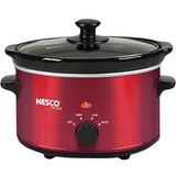 Nesco 1.5 Quart Slow Cooker (Metalic Red)