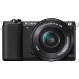 Sony alpha α5100 24.3 Megapixel Mirrorless Camera with Lens (Body with Lens Kit) - 16 mm - 50 mm - Black ILCE5100LB