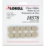 Lorell Self-Stick Round Felt Floor Glides