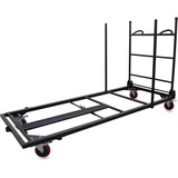 Lorell Blow Mold Rectangular Table Trolley Cart 65956