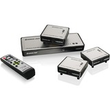 Iogear Long Range Wireless 5x2 HDMI Matrix PRO with 2 Additional Receivers GWHDMS52MBK3