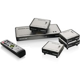 Iogear Long Range Wireless 5x2 HDMI Matrix PRO with 3 Additional Receivers GWHDMS52MBK4