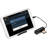 Iogear GoFor2+ -USB OTG Card Reader with Hub for Mobile Devices GOFRH202